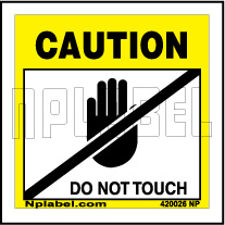 420026ML Caution - Do Not Touch Metal Labels