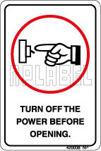 420038 Turn Off The Power - Stickers