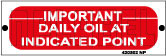 420502ML Daily Oil At Indicated Point Metal Labels