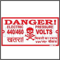 420505 Danger 440/460 Volts Labels & Stickers