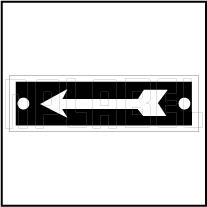 420520 Direction Arrow Metal Labels