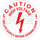 430582 Caution - High Voltage Stickers