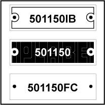 501150 - Control Panel Labels Size 50 x 15mm
