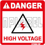 570563 Danger - High Voltage Stickers & Labels