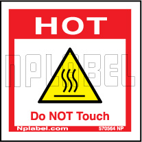 570564 Hot - Do Not Touch Caution Sticker
