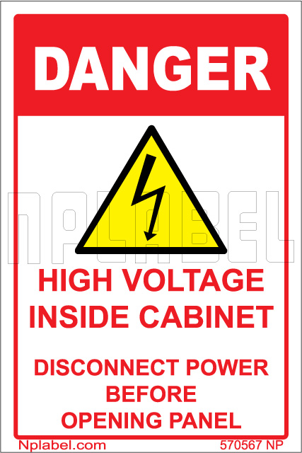 570567 Danger - High Voltage Sign  Sticker