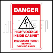 570567ML Danger - High Voltage Sign Metal Labels