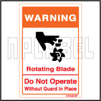 570568 Rotating Blade Warning Sticker