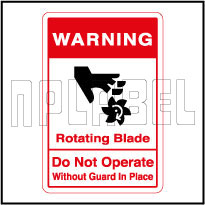 570568 Rotating Blade Warning Sticker & Labels