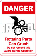 570569 Rotating Parts Caution Sticker & Labels