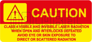570575 Warning - Class 4 Laser Radiation Stickers
