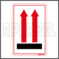 580945 Up Side Shipping Stickers Labels