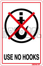 580946 Use No Hooks Stickers & Labels