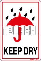 580947 Keep Dry Labels & Stickers