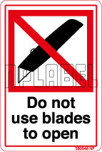 580948 DO Not Use Blade Signs Labels
