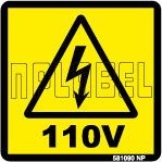 581090 Voltage Indication Stickers & Labels