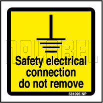 581095 Safety Electrical Connection Signs Stickers