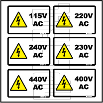 5810XX 115 To 440 Volts AC Sticker & Labels