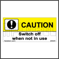 581103 Switch Off Caution Labels & Stickers