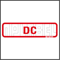 581105 Electrical Voltage Label - DC