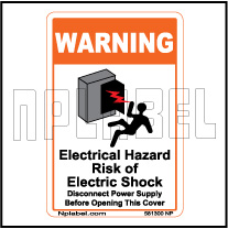 581300 Electrical Hazard Caution Stickers