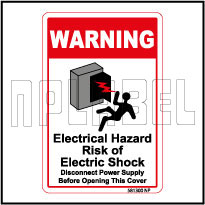 581300 Electrical Hazard Caution Stickers & Labels