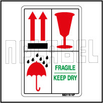 582119ML Fragile/Keep Dry Shipping Labels