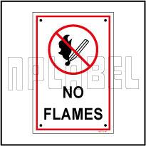 582721 No Flames Name Plates & Signs