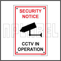 582728ML CCTV In Operation Caution Sign Metal Label & Sign