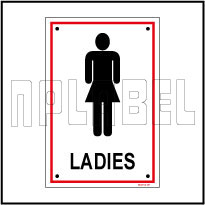 582734 Ladies Toilets Sign Name Plate & Signs