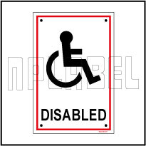 582735 Disabled Toilets Labels & Signs