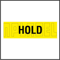 590303 Quality Control Sticker - HOLD