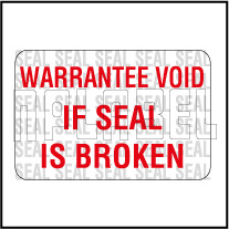 590660 Warantee Void Seal Sticker