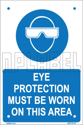 590739 Eye Protection Name Plates