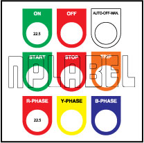 590813 Push Button Labels