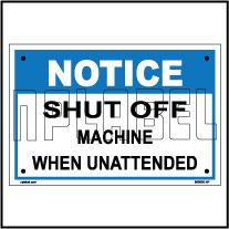 590903 Shut Of Machine Instruction Plate & Signage