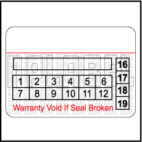 591065 Tamper Proof Security Warranty Void Label