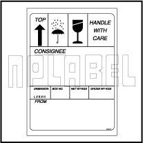 591640ML Shipping Metal Labels