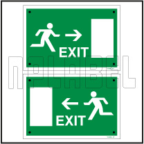 591692 Exit Sign Door Name Plates & Signs