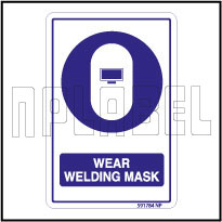 591784 Wear Welding Mask Safety Signs & Labels