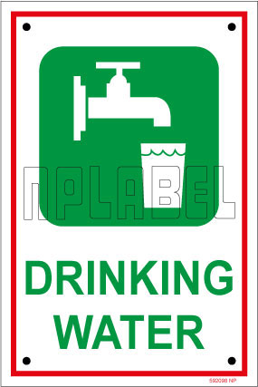 592098ML Sign Name Plates - Drinking Water