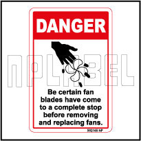 592165 Fan Blades Have Come To Stop Sticker-Labels