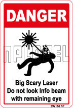 592166 Big Scary Laser Labels & Sticker