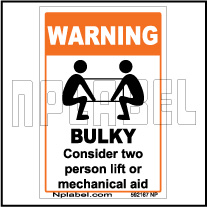 592167 Bulky Caution Sticker & Labels