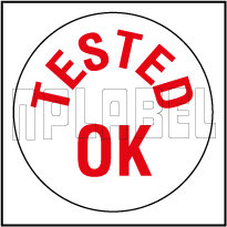 592231 Tested Ok Round Sticker