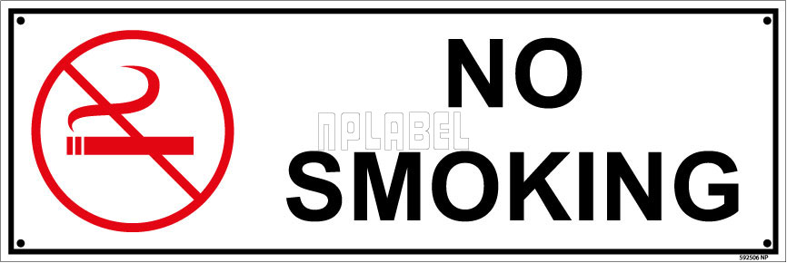 592506 No Smoking Sign Name Plate