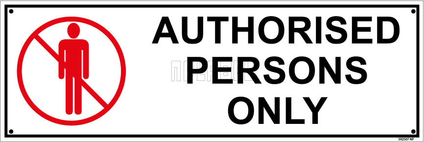 592507ML Authorised Persons Only