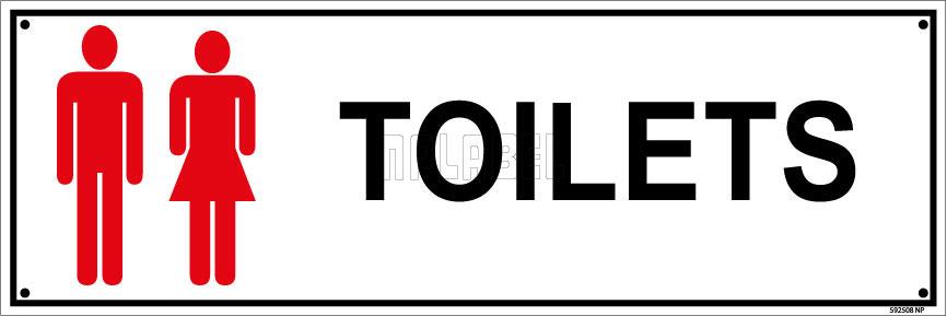 592508ML Toilets Name Plates