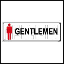 592509 Gentleman Toilets Sign Name Plate