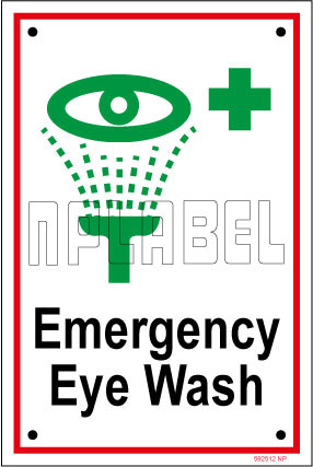 592512 Emergency Eye Wash Name Plate